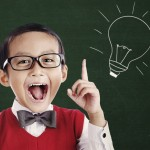 kid smart lightbulb brain idea
