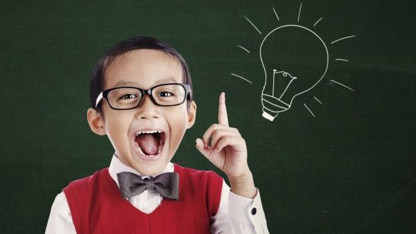kid smart lightbulb brain