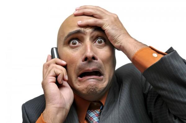 stock broker panic phone