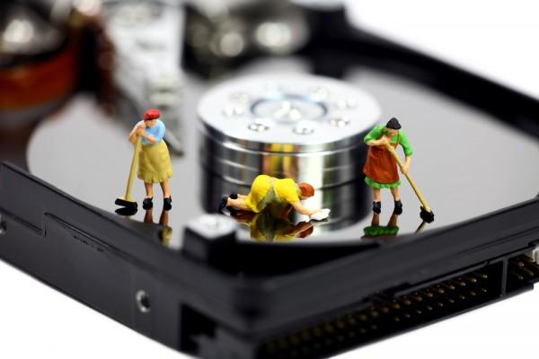 Clean hard disk