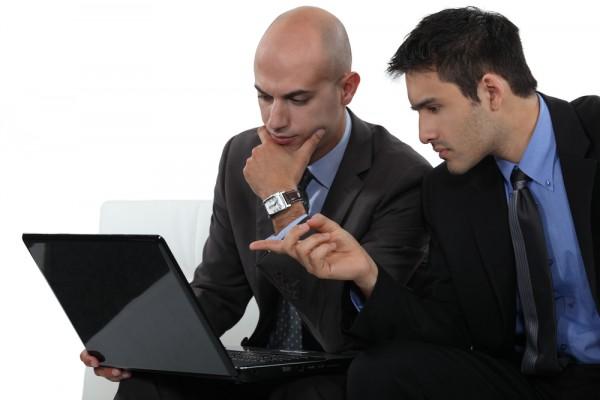 businessmen laptop notebook