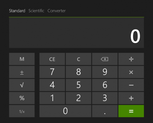 windows blue calculator