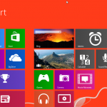 windows blue start screen in red - Edited