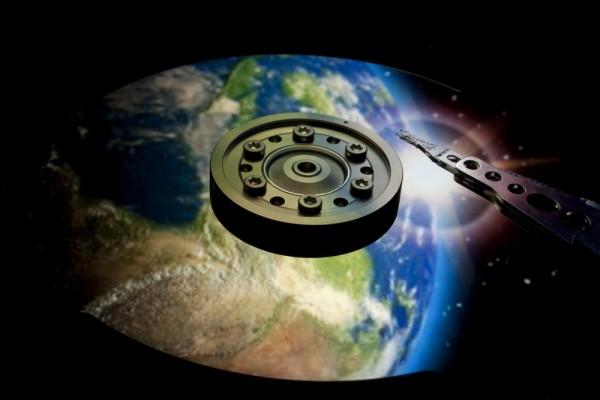 Globe hard drive