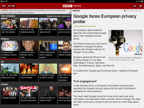 Bbc News Update: BBC Updates Its News App