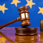 European Union EU flag gavel justice