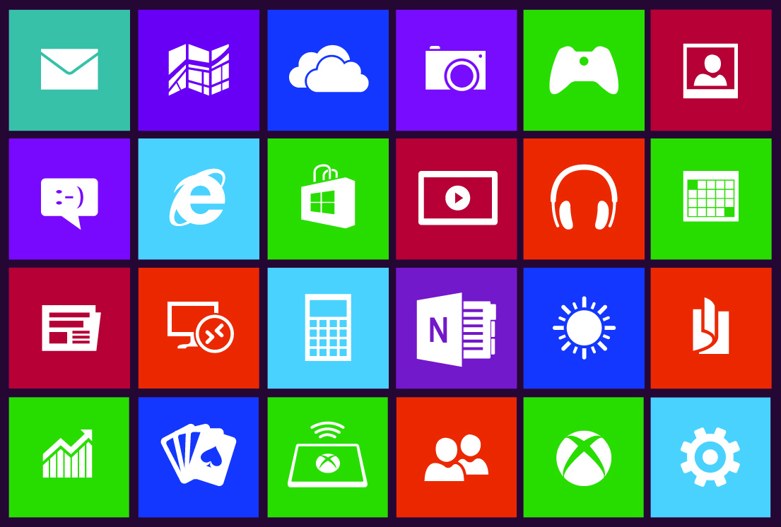 how to add more icons to windows 8