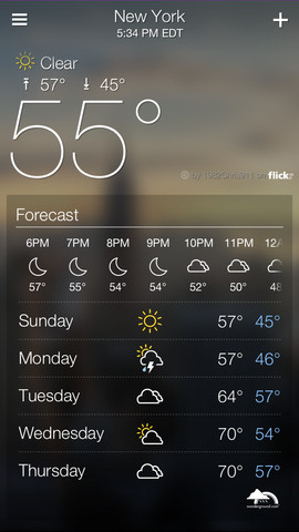 Yahoo forecasts weather app for iOS | BetaNews