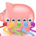 pig piggy bank ethernet net connect tax