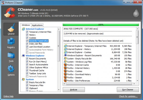 CCleaner now better at cleaning up after Internet Explorer 10