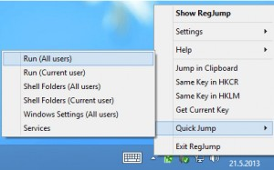 Registry Key Jumper lets you quickly access any registry key