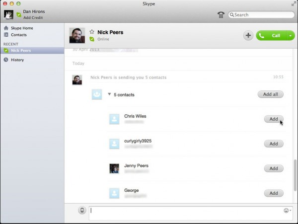 how to get online on skype mac