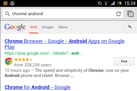 Chrome for Android 27 introduces fullscreen on phones, tab