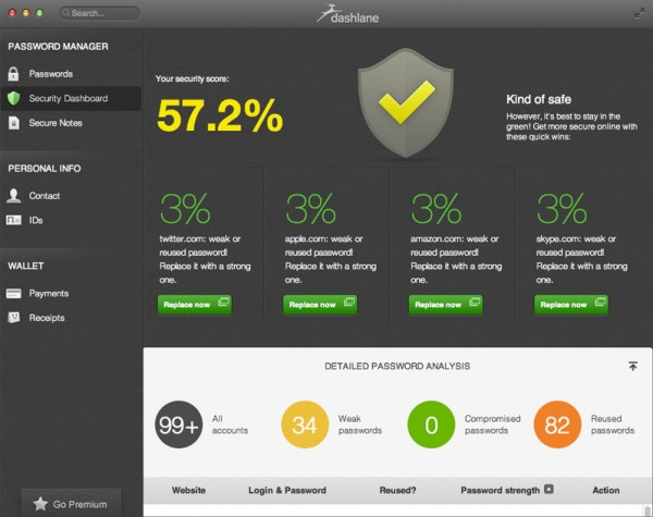 Keep your passwords secure with Dashlane for Windows, Mac