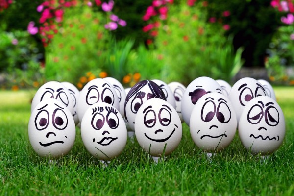 emotions face eggs mood happy sad angry