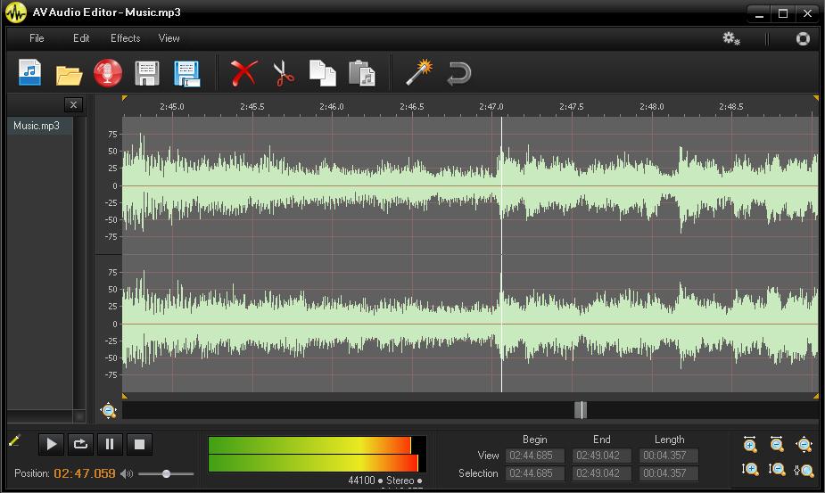 av audio editor lets you easily tweak and convert your