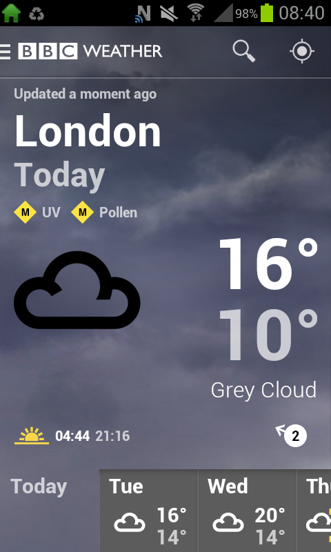 is it going to rain  the bbc u2019s new weather app can tell you