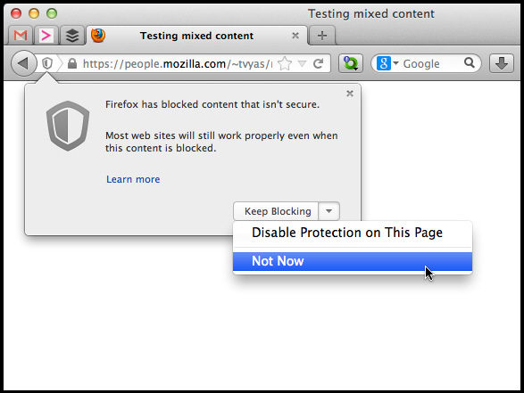 Firefox 23 Beta arrives, enables mixed content blocking, click-to