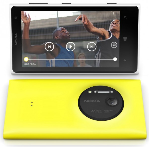 Nokia Lumia 1020 White Yellow