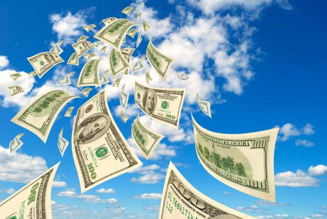 cloud money dollars