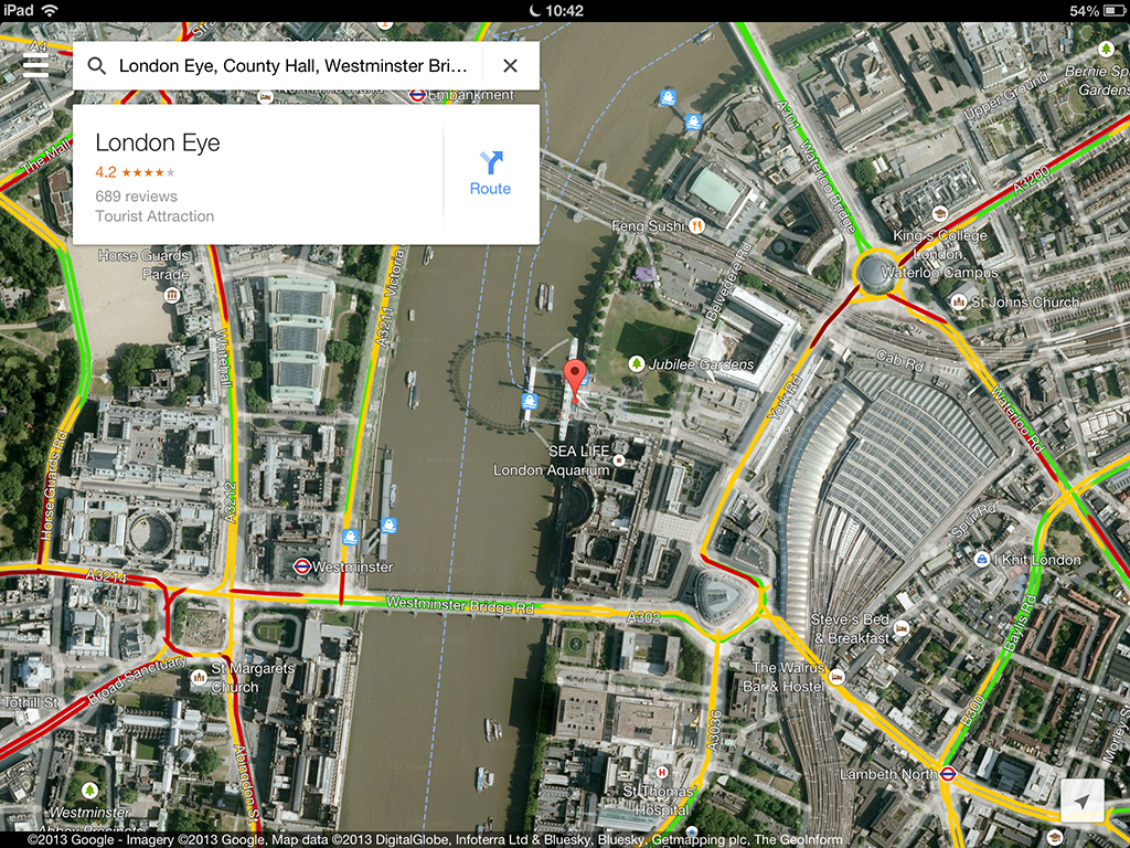 . the new google maps arrives on iphone and ipad