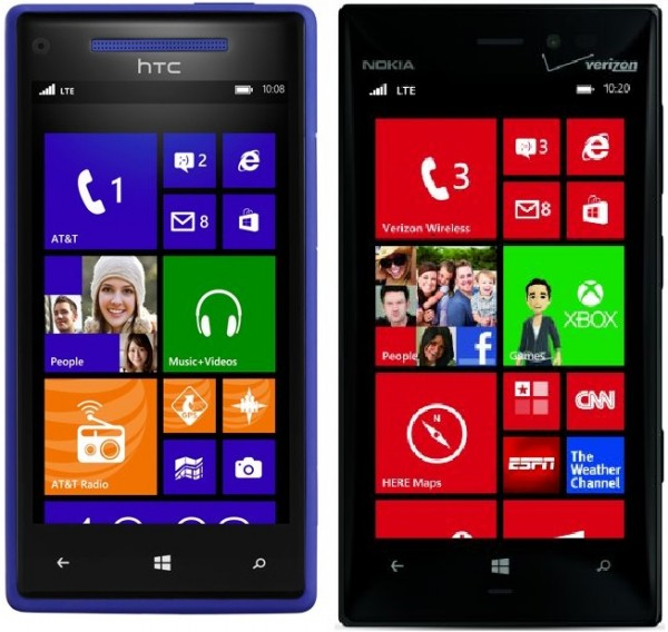 Htc Windows Phone 8x And Nokia Lumia