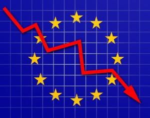 european flah graph down