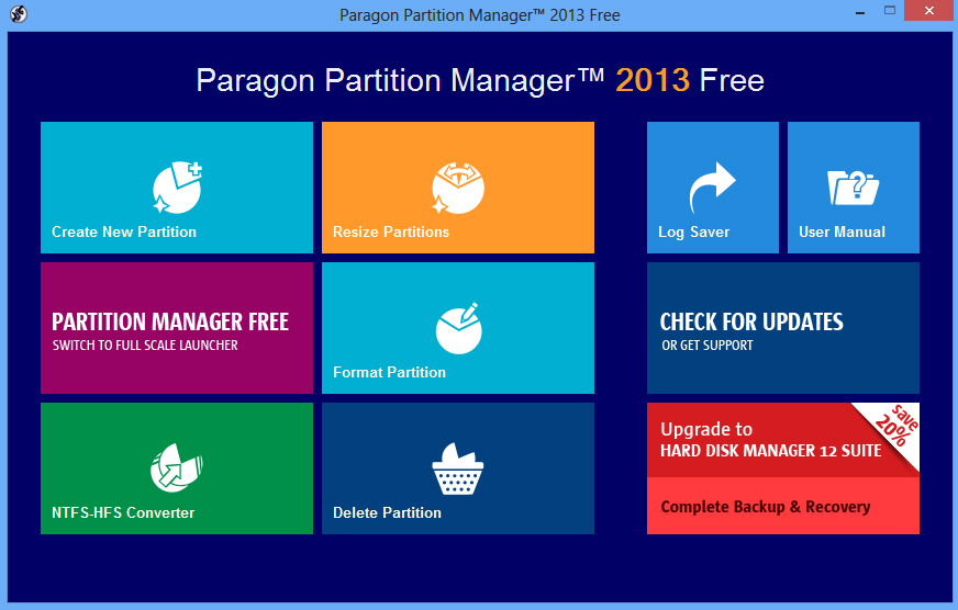 Paragon partition manager 2013 free