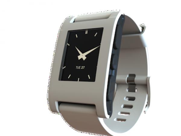 Pebble White Smartwatch