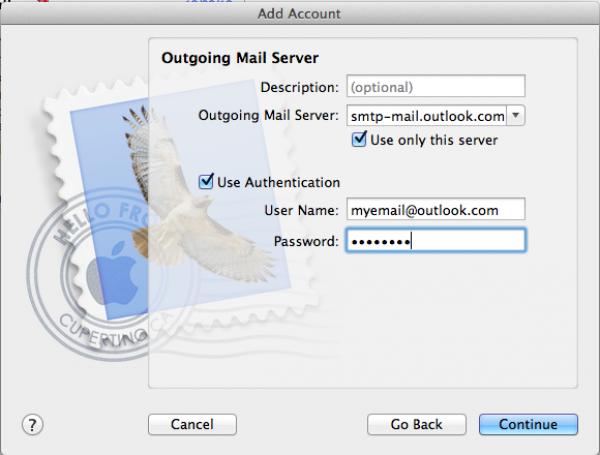 hotmail imap settings mac outlook
