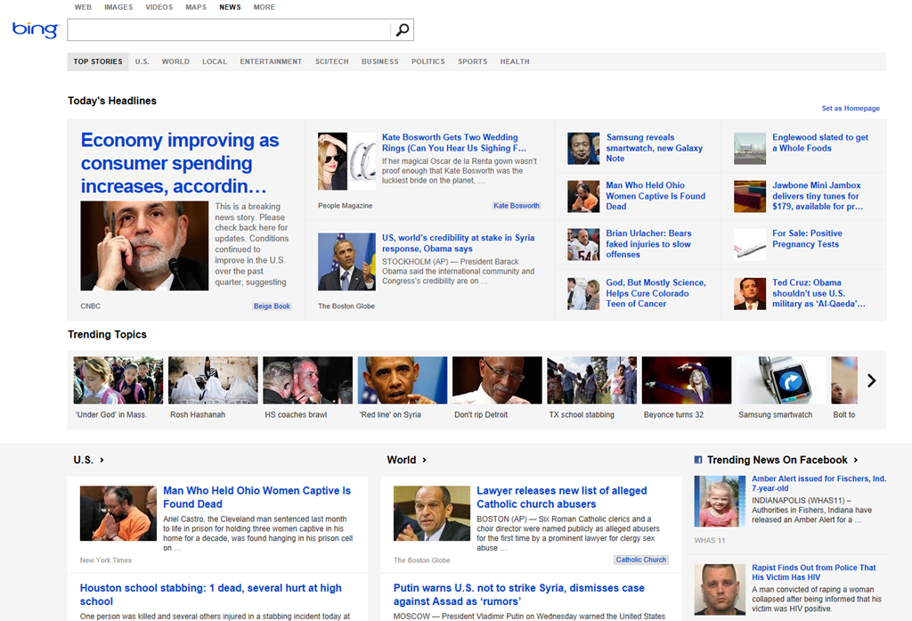bing news hits the headlines with a modern makeover