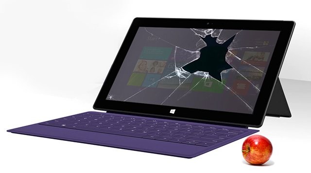 Apple Inflicts Major Surface Damage On Microsoft