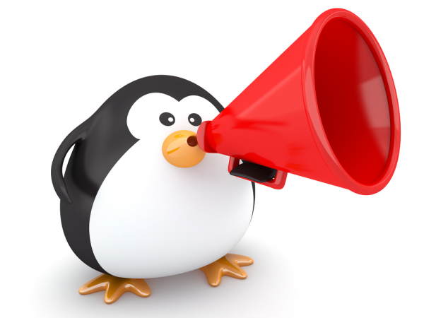 penguin megaphone
