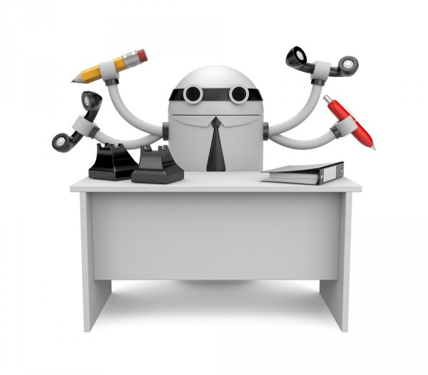 robot office worker