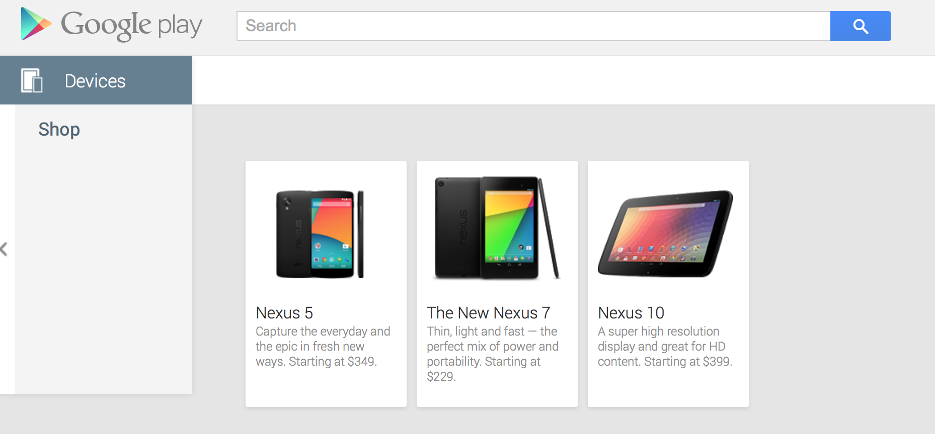 Google shows off $349 Nexus 5 in Play store -- for a few ...
