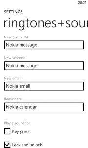 Windows Phone 8 Update 3 Ringtones Sounds