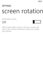 Windows Phone 8 Update 3 Lockscreen Orientation