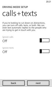 Windows Phone 8 Update 3 Driving Mode 2