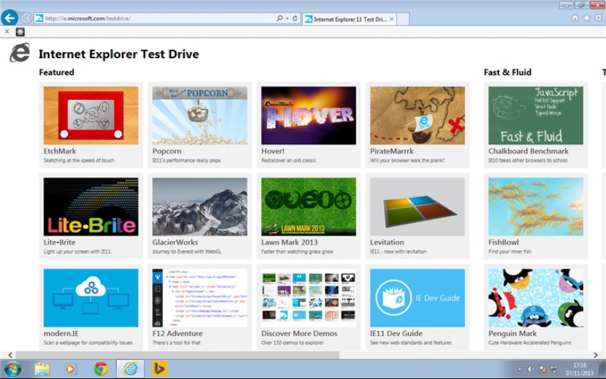 Internet Explorer 11 for Windows 7 is all about performance