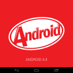 Android 4.4 KitKat Logo on 2013 Nexus 7