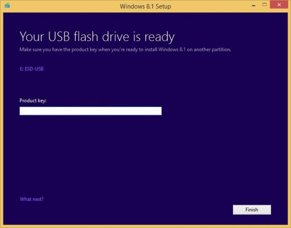 Windows 8.1 USB drive 9