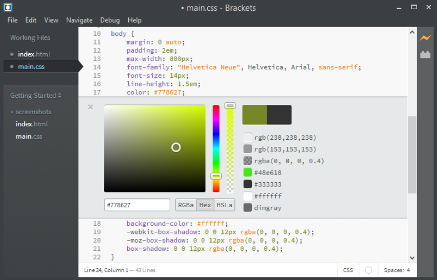 Adobe Brackets is a powerful source code editor for the web