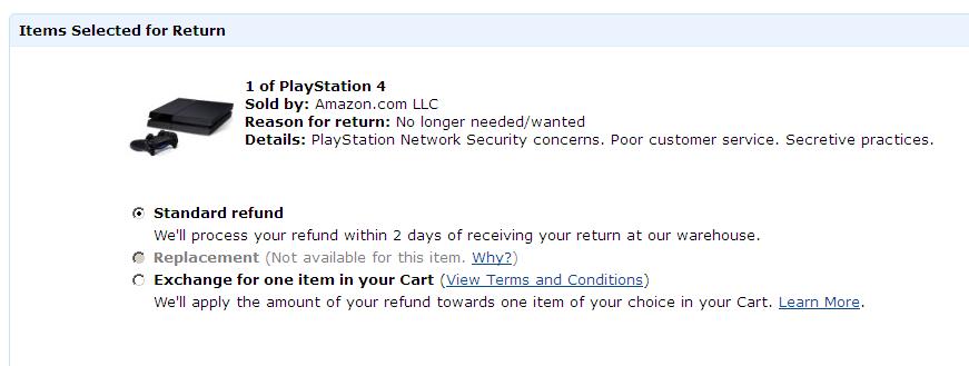 I'm returning my PS4 -- Sony secretive on PlayStation Network ...