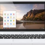 Acer C720 Chromebook white touch forward