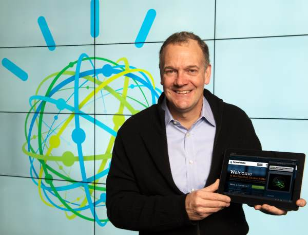 IBM's Mike Rhodin demonstrates a Watson cloud service