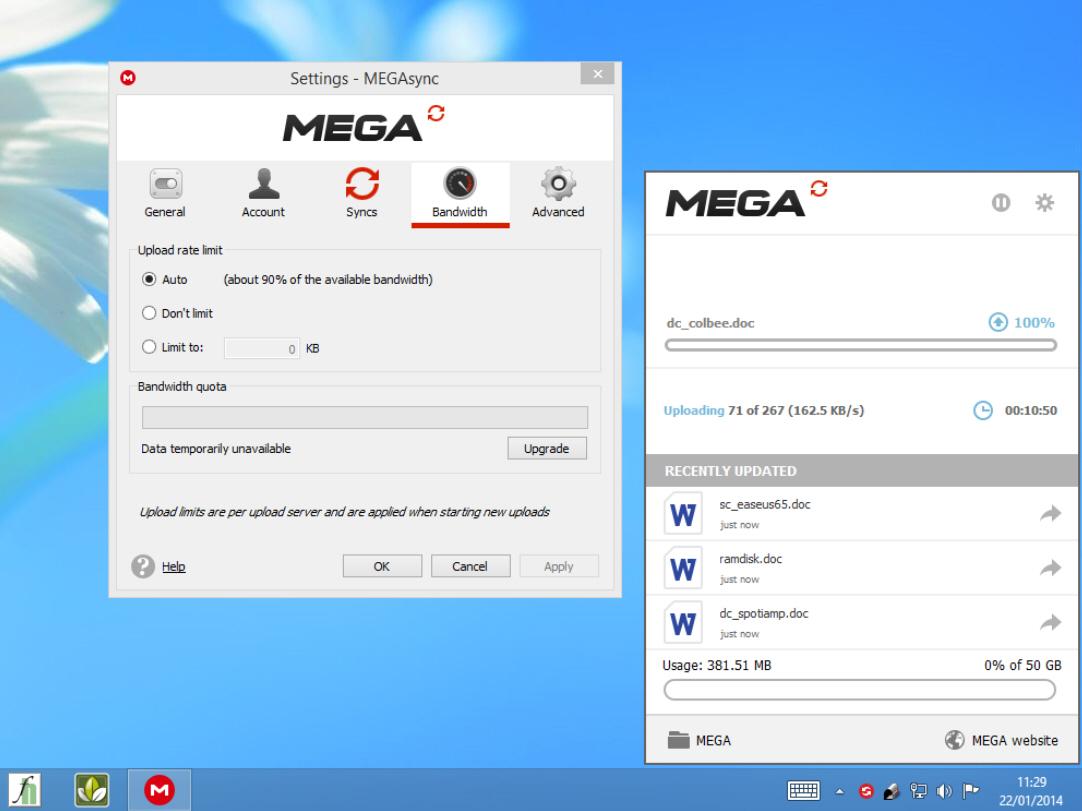 Secure cloud storage provider MEGA launches MEGAsync desktop tool