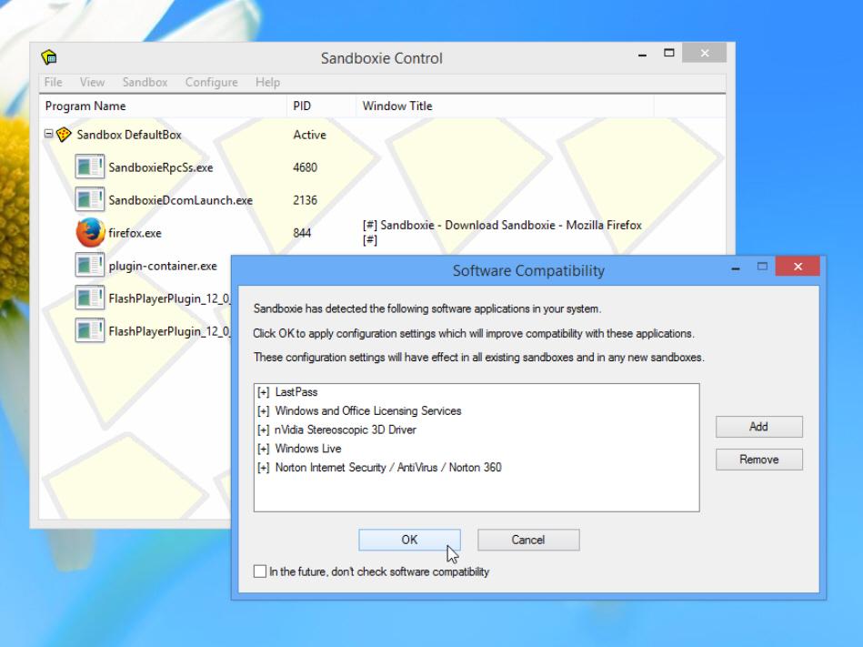 Sandboxie для windows 8.1