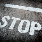 Stop street line road