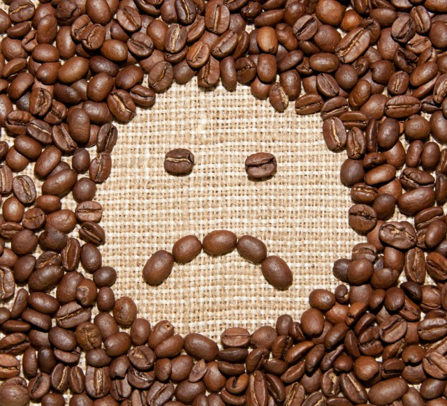 Coffee Beans Sad Face