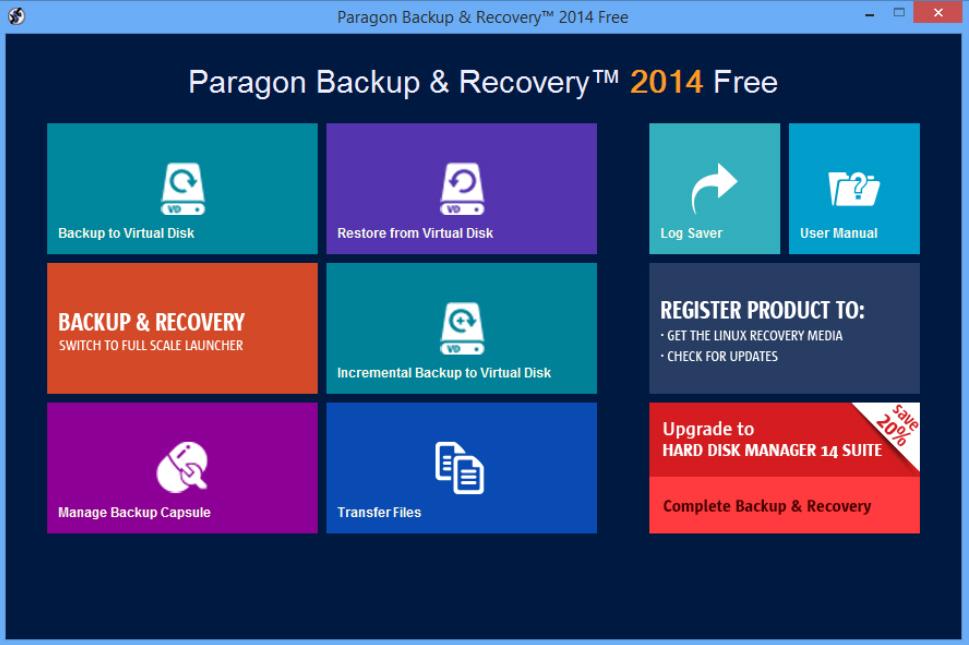 Paragon Backup 2014